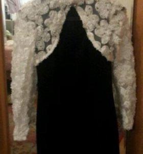 Черное платье с болеро