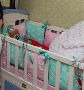 бортики-подушечки на кроватку