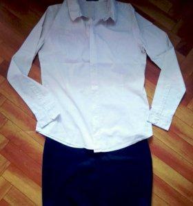 Юбка, блуза