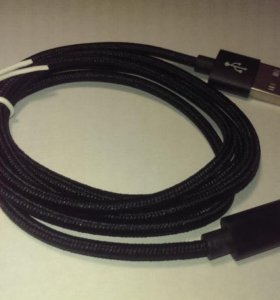 Кабель Lightning USB для зарядки iPhone/iPad ткань