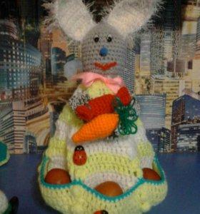 Пасхальный заяц подставка для яиц