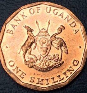 """Монета Уганды 1 шиллинг 1987 """"12-гранник"""""""