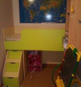 Детская кровать-чердак+ матрас