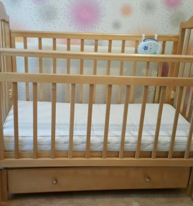 Детская кроватка Наша Мама+матрас