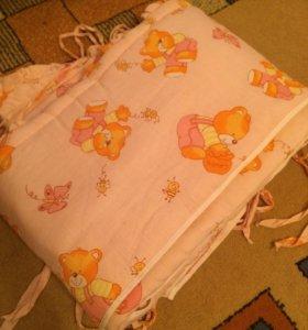 Бортики на кровать+балдахин для девочки