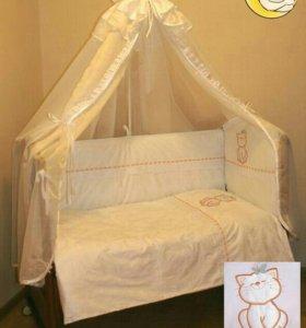 Полный комплект в кроватку Сонный Гномик