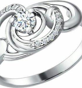 Кольцо серебряное, новое с этикеткой