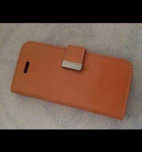 Кожаный Флип Кейс Iphone 5/5s/SE