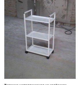 Тележка металическая на колесиках