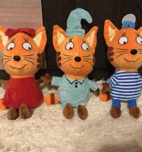 """Игрушки из мультфильма """"Три кота"""""""