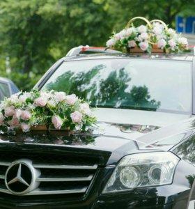 Свадебные украшение на автомобиль