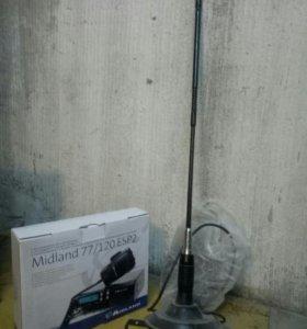Радиостанция Мидланд 77/120 + антена 27мгц