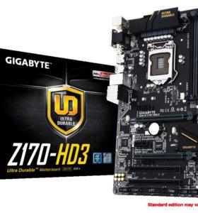 Новую Gigabyte Z170 HD3 DDR4 на гарантии