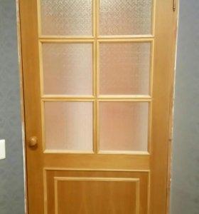 Двери - шпон натуральный, б/у