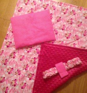 Конверт на выписку трансформер одеяло подушка плюш