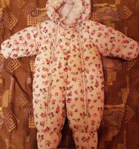 Зимний комбинезон на девочку 62 размер