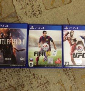 Playstation 4 slim + 5 игр
