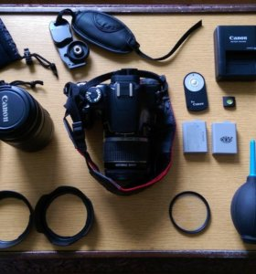 Canon 450D Kit + аксессуары
