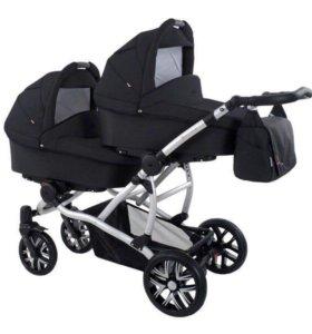 🍓Детская коляска для двойни Bebetto-47 черный