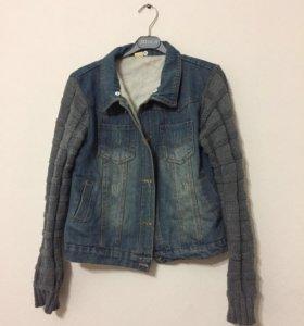 Тёплая джинсовая куртка