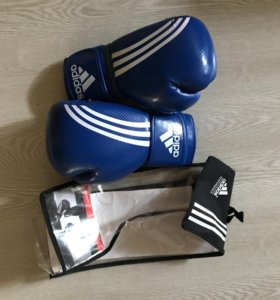Боксерские перчатки adidas shadow blue
