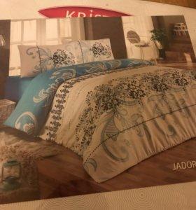 Постельное белье на двухспальную кровать (новое)