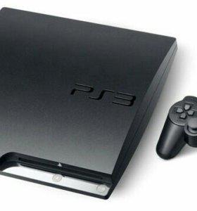 PS3 Slim 320gb+2 геймпада