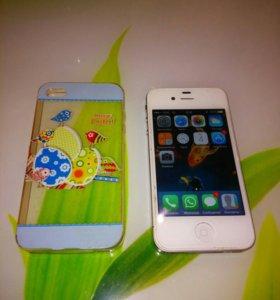 Телефон Айфон 4S 8GB.