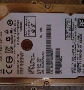 Жёсткий диск на 750GB