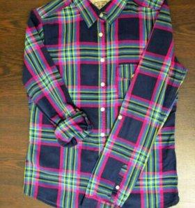 Женская рубашка в клетку 42-44