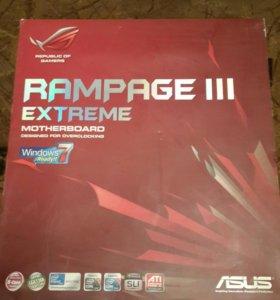 ASUS Rampage 3 extrem + процессор l7-920 2.66 гГц