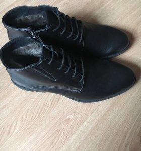 Новые ботинки мужские на меху, 42 размер