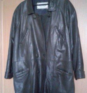 Куртка кожаная новая XXL +