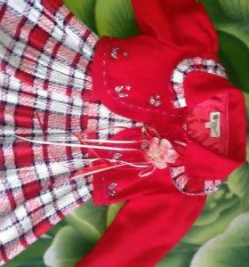 Платье-сарафан детское с пиджаком
