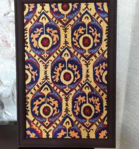 Кайтагская вышивка ручной работы с выставки.