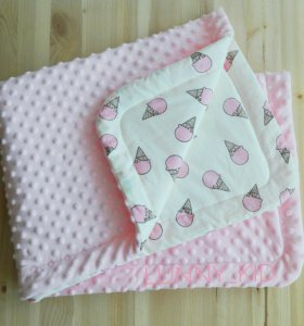 Конверт на выписку, детский плед, одеяло в коляску