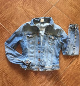 Укорочённая джинсовая куртка H&M