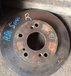 Тормозной диск Honda CR-V RD1 5 шпилек передний