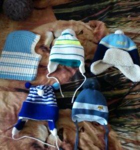 Зимние шапочки и варежки на мальчика!