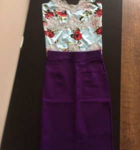 Комплект юбка + топ