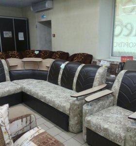 Набор угловой диван + 1кресло Новый