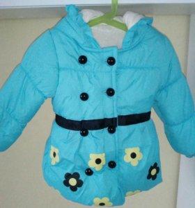 Куртка, новая, 92-98, теплая