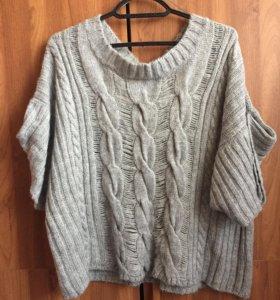 Вязаная тёплая кофта, свитер
