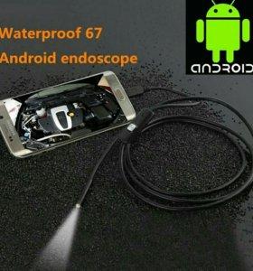 Портативный эндоскоп 2 метра для Android, Windows