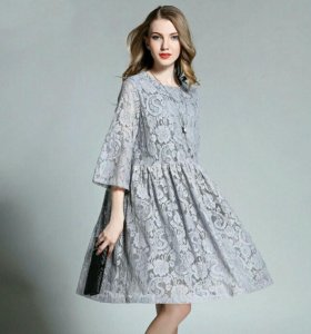 Платье из гипюра, oversize