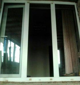 Три решетки и две пластиковые окна