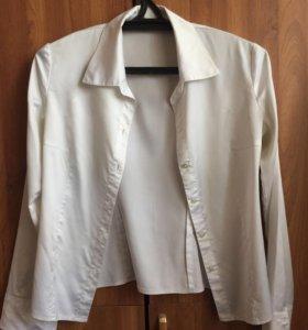 Белая шёлковая блуза