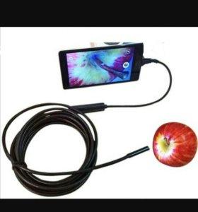 Эндоскоп(видеокамера на проводе).