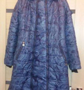 Пальто для беременных со вставкой