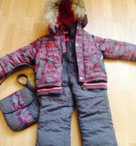 Зимний комплект куртка и комбинезон